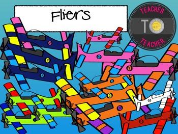 Airplanes Clipart {TeacherToTeacher Clipart}