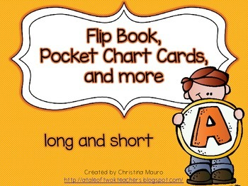 Flip Book, Pocket Chart Cards, and more - Long and Short A