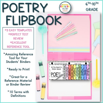 Flip Book-Poetry Terms-Great Reference Material!