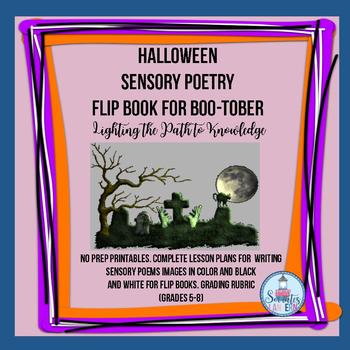 Flip Book: Sensory Poetry for Halloween (Grades 5-8)