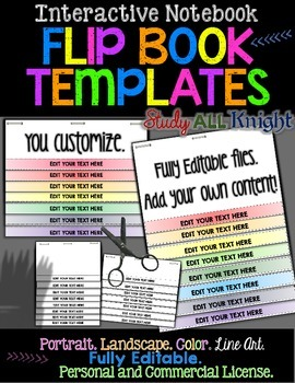 EDITABLE FLIP BOOK TEMPLATES INTERACTIVE NOTEBOOKS PERSONA