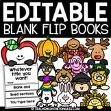Flip Book EDITABLE Template Bundle (includes Easter craft!)