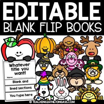 Flip Book Template EDITABLE Bundle {for the year}