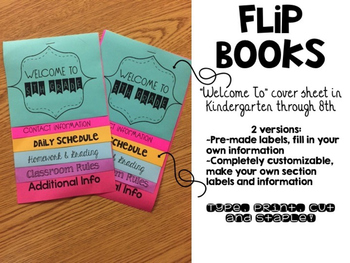 Flip Books! Pre-Made and Fully Customizable