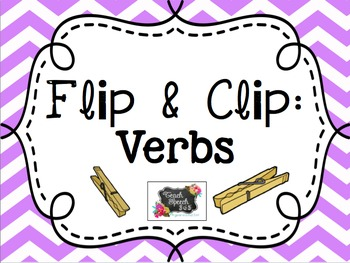 Flip & Clip: Verbs and Companion Activities
