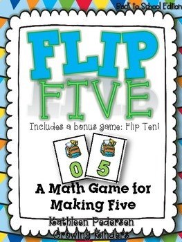 Flip Five! A Math Game for Making Five {Back to School}