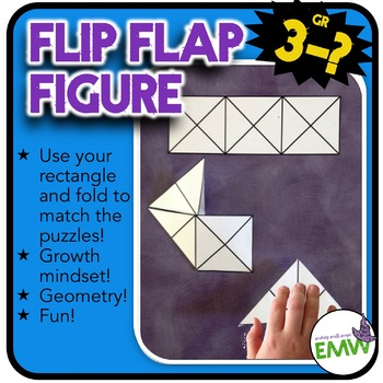 Flip Flap Figure - Fun geometry puzzle activity - challeng
