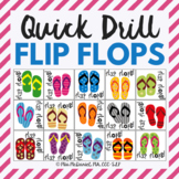 Flip Flop Quick Drill {for articulation or fluency therapy & RTI}