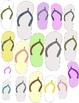 Flip Flop Clip Art: 42 PNGs   Enough for Your Whole Class!