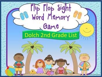 Flip Flop Sight Word Memory Game:Dolch Grade 2 Sight Words
