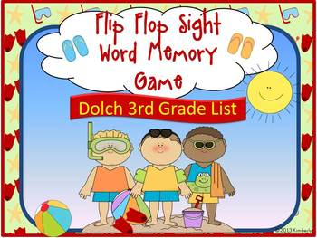 Flip Flop Sight Word Memory Game:Dolch Grade 3 Sight Words