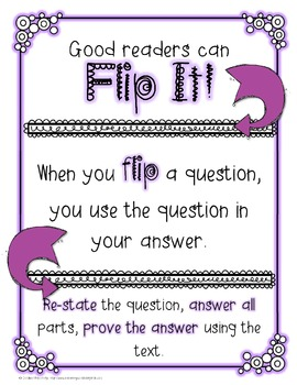 Flip It!- RL 2.1, 3.1, 4.1 Ask and Answer Questions Freebie!
