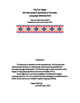 Flip for ELD Ideas to Promote Language