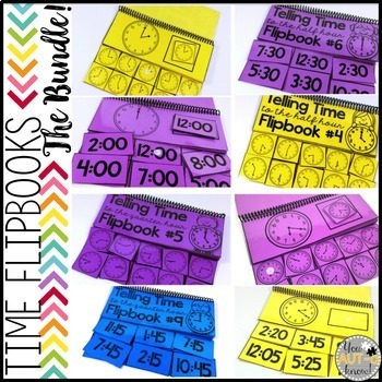 Flipbooks for Telling Time {The BUNDLE}