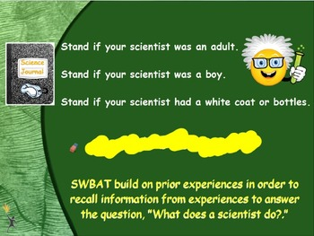 """Flipchart beginning a """"What does a scientist do"""" unit"""