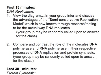 Flipped Classroom_Protein Synthesis Assignment