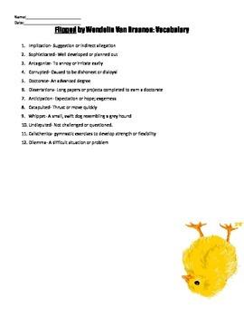 Flipped by Wendeline Van Draanen Reading Strategies Handouts