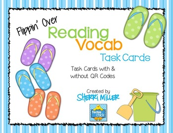 Flippin' Over Reading Vocab Task Cards