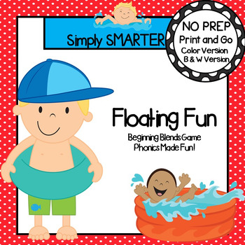 Floating Fun:  NO PREP Summer Themed Beginning Blends Game