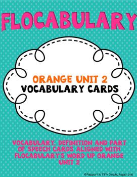 Flocabulary Orange Unit 2 Vocabulary Cards - Fourth Grade