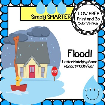 Flood!:  LOW PREP Rainy Day Themed Letter Matching Old Mai