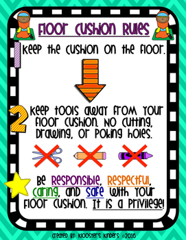 Floor Cushion / Mat Rules Poster - Flexible / Alternative