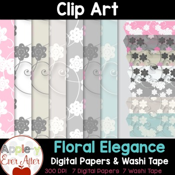 Digital Paper & Washi Tape Clipart
