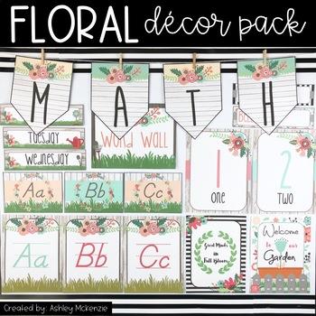 Floral Garden Themed Decor Pack!