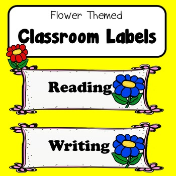 Room Labels Flower Nature Theme