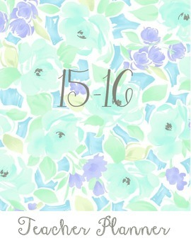 Floral SPECIAL ED Planner 2015-2016