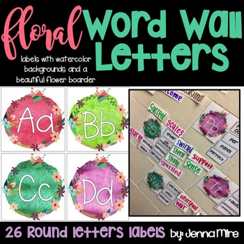 Floral Word Wall Letter Labels