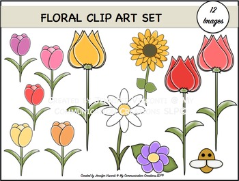 Florals {Clip Art Set}