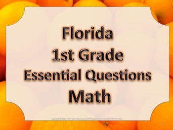 Florida 1st First Grade Math ESSENTIAL QUESTIONS Oranges