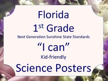 Florida 1st Grade Science Next Generation Sunshine State S