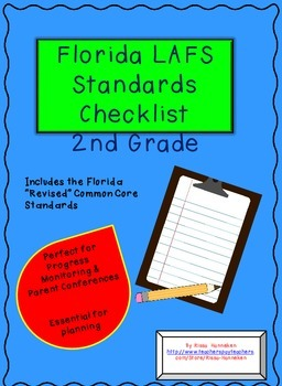 Florida 2nd Grade LAFS Planning and Progress Monitoring Checklist