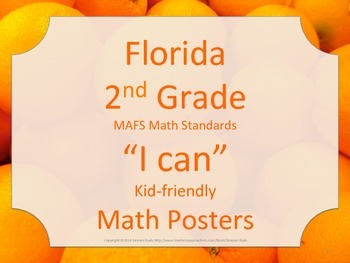 Florida 2nd Second Grade MAFS Math Standards Posters