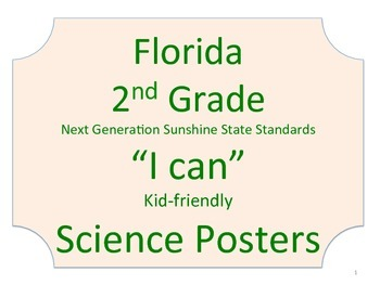 Florida 2nd Second Grade Science Standards NGSSS No Border