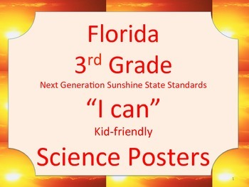 Florida 3rd Grade Science Next Generation Sunshine State S