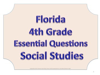 Florida 4th Fourth Grade SS Social Studies ESSENTIAL QUEST