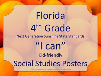 Florida 4th Fourth Grade SS Social Studies NGSSS Standards