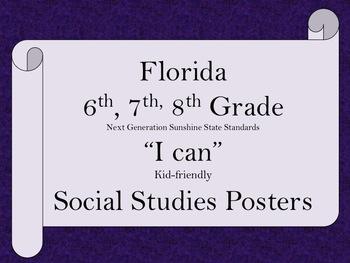 Florida 6th 7th 8th Grade MS Bundle SS Social Studies NGSS