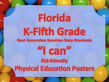 Florida Elementary Bundle PE Physical Education NGSSS Stan