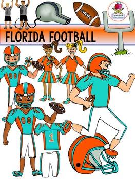 Florida Football Clip Art {Dolphins Gators Jaguars Seminol