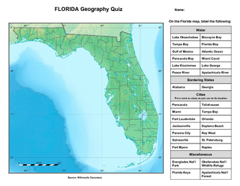 Florida Geography Quiz
