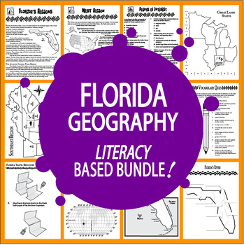 Florida Geography Bundle of 8 COMPLETE Lessons