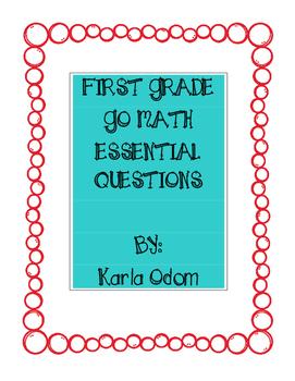 Florida Go Math First Grade Essential Questions