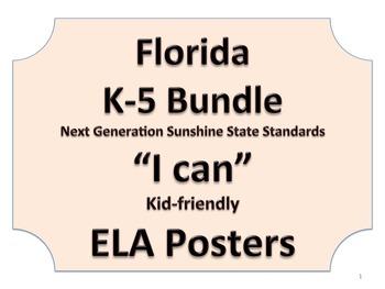 Florida K-5th Grade Bundle ELA Language Arts LAFS Standard