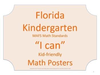 Florida Kindergarten MAFS Math Standards Posters