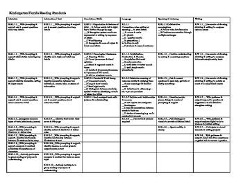Florida Language Arts Standards Checklist