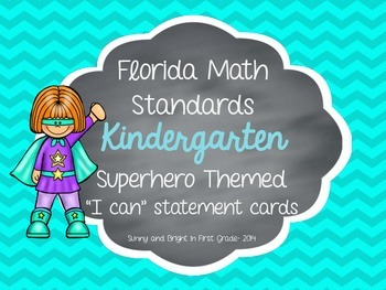 Florida Math Standards for Kindergarten- 2014